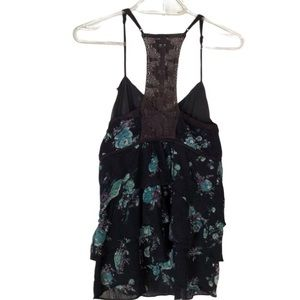 Free People Floral Print Camisole Top Size 8